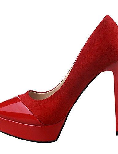 WSS 2016 Chaussures Femme-Extérieure / Bureau & Travail / Soirée & Evénement-Noir / Vert / Rose / Rouge / Gris / Nu-Talon Aiguille-Talons / Bout pink-us6 / eu36 / uk4 / cn36