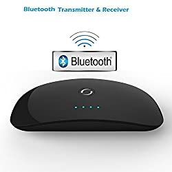 JT Professional 2 In 1 Bluetooth Transmitter & Receiver for TV, Audio System, Mobiles and other non-bluetooth devices.supports 2 devices simultaneously