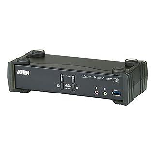 Aten CS1922 2-Port USB 3.0 4K DisplayPort KVM Switch schwarz