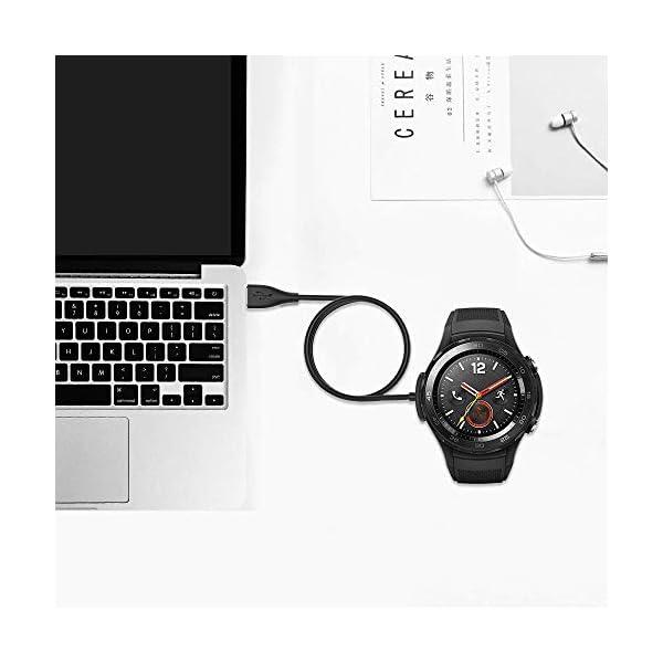 KIMILAR Cable Compatible con Huawei Watch 2 / Watch 2 Pro Cargador, [2 Pack] Base de Carga USB Compatible con Huawei… 9