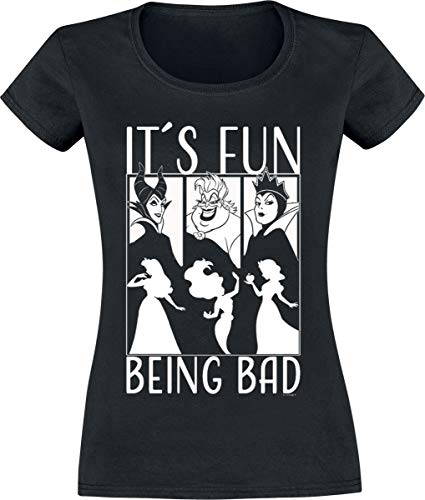 Disney Villains It´s Fun Being Bad T-Shirt schwarz S