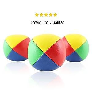 3er Set Diabolo Premium Jonglierbälle - 62mm Ø ✓ Jonglierball Füllung aus...