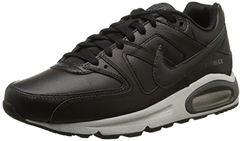 Nike Air Max Command Leather, Herren Sneaker, Schwarz (Noir/Anthracite/Gris Neutre 001), 42.5 EU (Air Max Fall)