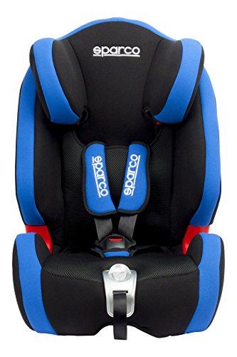 Sparco Kids SPCF1000KBL Seggiolino Auto, Gruppo 1/2/3, Blu, 9 da 36 kg