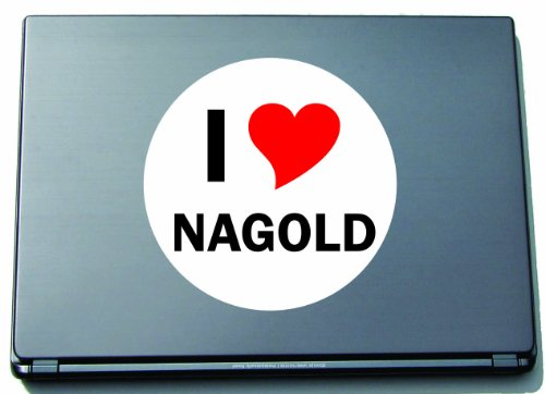 I Love Aufkleber Decal Sticker Laptopaufkleber Laptopskin 210 mm mit Stadtname NAGOLD