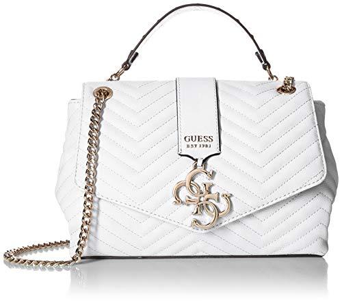 Guess Damen Violet Shoulder Bag Umhängetasche, Weiss (White), 28.5x17x10 Centimeters