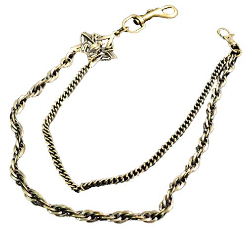 Herren Hosen Kette Fashion Star Decor 2 Schichten Hosen Kette Jean Wallet Chain