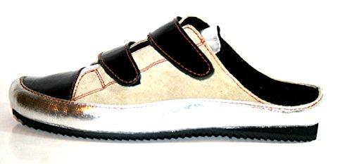 Fortuna, Pantofole donna Multicolore multicolore Multicolore (Mehrfarbig (silber/sand/schwarz))
