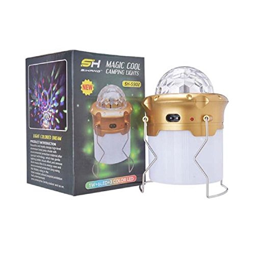 LaPetiteCaverne - Lampe torche / Lanterne 6 Led +3 +3 Couleur / Lumière + USB – 110/230V
