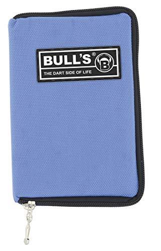 BULL\'S TP Dartcase, Darttasche mit Gürtelbefestigung, Spitzenröhrchen, blau