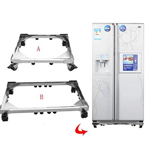 Chai jia Edelstahl Abnehmbare Waschmaschine Basis Größe Einstellbare Kühlschrank Halterung Mit Rädern Erhöhungswinkel (größe : B) -