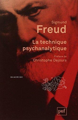La technique psychanalytique