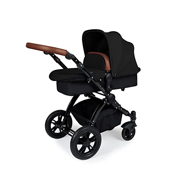 Ickle Bubba Stroller Stomp V3 iSize All-in-One iSize Baby Travel System | Car Seat w/ Isofix Base, Rear and Forward-Facing Pushchair, Carrycot | Black on Black Frame Ickle Bubba I-size all-in-one travel system: features carrycot, reversible pushchair, and mercury i-size car seat with is fix base. deluxe foam tires allow for a smooth ride Forward and parent facing toddler seat + new-born carrycot: flexible seating to cover your child from birth to 3 years old All weather protection: rain cover to cover your child from sudden downpour. machine washable and roomy footmuff 2