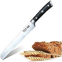 SHAN ZU Coltello Per Affettare Torta Pane Seghettato 200mm (8 inch) Affettatrice Per Pane In Acciaio Inossidabile con Confezione Regalo