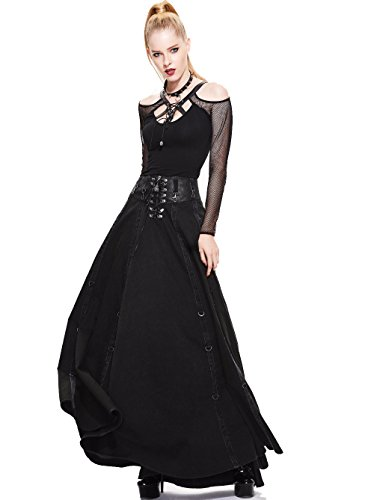 hwarz Victorian Rock Kleid Steampunk Frauen Halloween Party Cocktail Herbst Winter Retro Röcke (M) (Steampunk-mode Frauen)