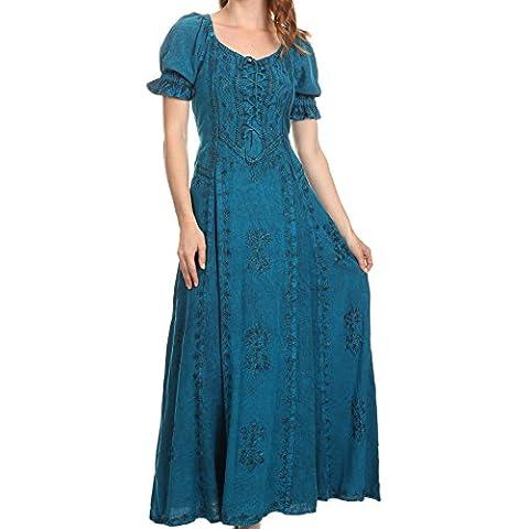 Sakkas Ashlay regolabile lungo Paneled increspato manicotto della protezione scollo Dress Batik