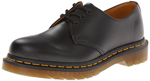 Dr. Martens 1461Z Smooth Cherry Scarpe Basse Stringate, Unisex Adulto, Nero (Black Smooth Z Welt), 43