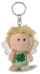 Nici 34553 - Schutzengel, Ich bring dir Glück, Schlüsselanhänger, 7 cm, grün