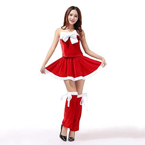 CVCCV 2018 Split süßer Schatz Weihnachten weihnachtskostüm großen Bogen Weihnachten kostüme Spandex Stoff für - Bogen Weihnachten Kostüm
