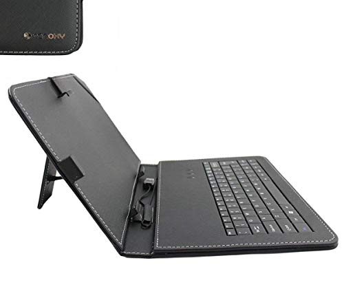 ABOUTTHEFIT Tablet Case with Keyboard for All 10″ Tablets (Black)