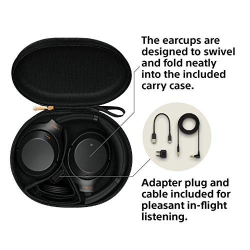 Sony WH-1000XM3 Wireless Industry Leading Noise Cancellation Headphones with Alexa (Black) Image 3