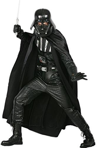 Herren Cosplay Kostüm Darth Deluxe Outfit Black Series Jumpsuit für Halloween Verrückte Kleid Replik (Skywalker Kostüm Schwarz Anakin)