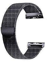Zagzog smartwatch Gürtel aus Edelstahl für Android iOS,Fitness Armband Wasserdicht SmartWatch Intelligente mit Pulsmesser Schlafmonitor Anruf 20 MM