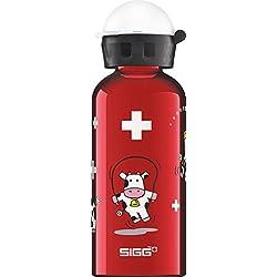 Sigg kids 'Funny Cows botella de aluminio, rojo, 0,4L