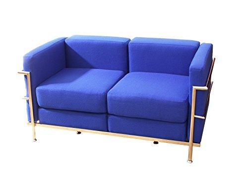 PIQUERAS Y CRESPO Modelo Tarazona - Sofa de Modulo/espera de dos plazas - Tapizado en tejido BALI color azul