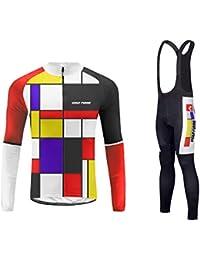 16c72d6ef0e2 Uglyfrog Body Tuta Ciclismo con Bretelle Completo Bici Uomo Estivo con  Maglia Lungo e Pantaloncini Imbottiti Abbigliamento Ciclismo…
