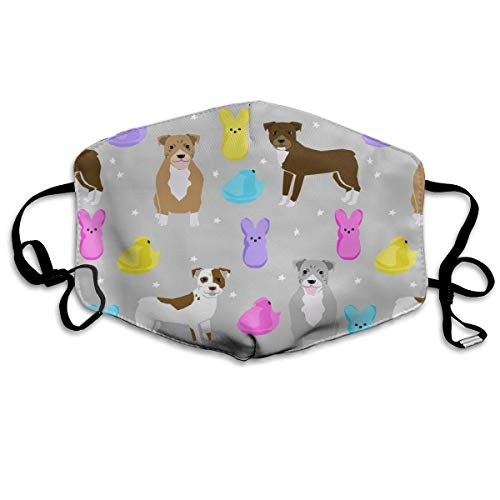 Pitbull Easter Candy Design - Cute Pastel Easter Spring Design With Dogs Anti Dust Mask Anti Pollution Washable Reusable Mouth Masks