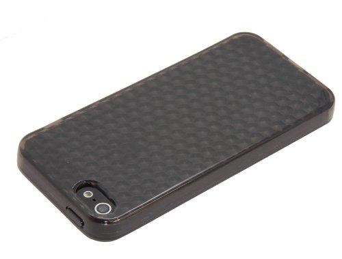 Luxburg® In-Colour Design Schutzhülle für Apple iPhone 5S / 5 in Farbe Türkis Blau / Hellblau Hülle Case aus Silikon Anthrazit Grau