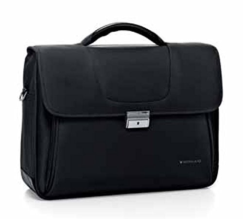 Roncato Cartella Clio Nero, art 412250, 2 Comp., Porta pc / tablet, 43x31x15 cm