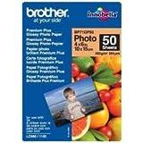 Brother BP71GP50 - Pack de 50 hojas de papel fotográfico Glossy Premium 10x15 (260 g/m2)