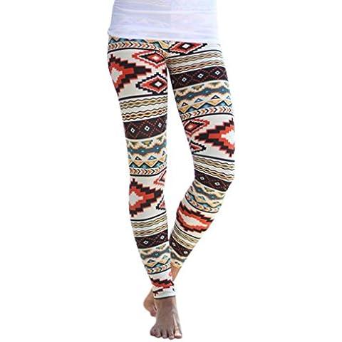 Fortan Le donne Primer Autunno Skinny stampa geometrica pantaloni di stirata Leggings