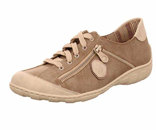 Rieker M3724-80 Damen Halbschuh Schnürschuh Sneaker grau (grau kombi) EU 40