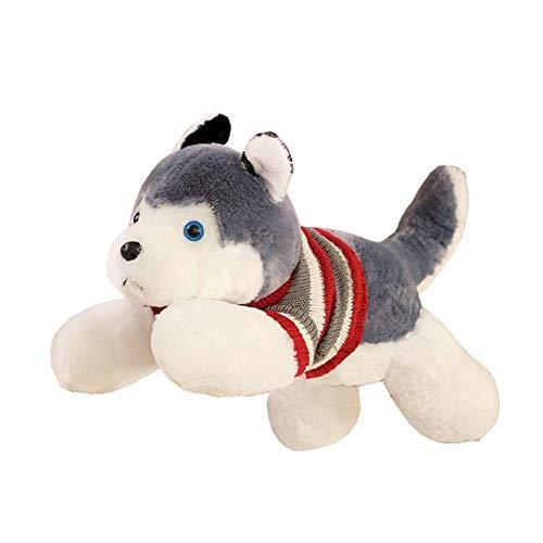SunniY Peluche Petite Pas Cher Huskies Habillés 50cm Doux Et Confortable Convient Au Cadeau Ou À La Maison