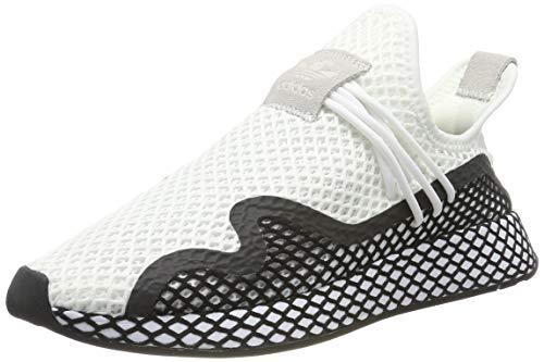 adidas Herren Deerupt New Runner Sneaker, Weiß Core Black/Footwear White 0, 43 1/3 EU