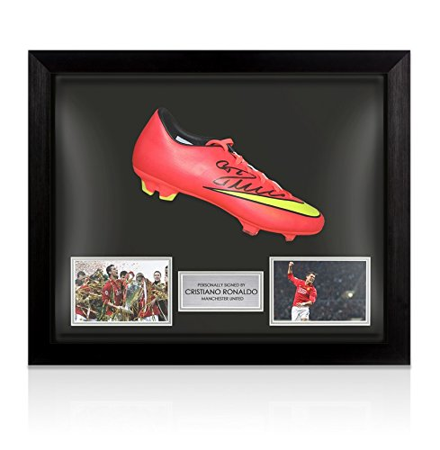 Framed Cristiano Ronaldo Signed Football Boot – Manchester United