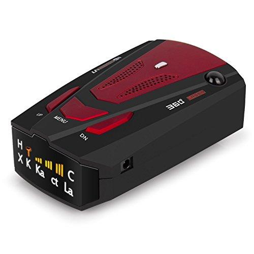 Radar Detektor, petcaree High Performance Polizei Radar Laser Detektoren für Autos mit Voice Alert und Auto Speed Alarm System mit 360Grad Erfassung