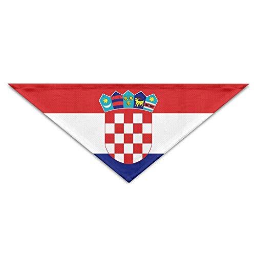Cool Kostüm Haustier Katze - Rghkjlp Gestreifte Kroatien Flagge Hund Bandanas Schals Lätzchen Schals Cool Basic Halstuch Katze Kragen Haustier Kostüm Zubehör Halstuch