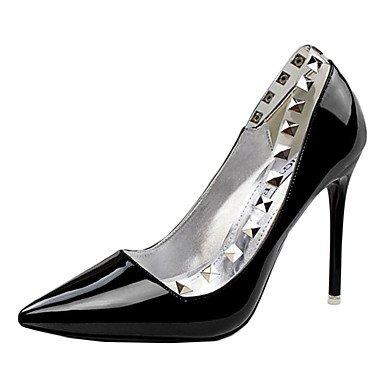 Moda Donna Sandali Sexy donna tacchi tacchi estate pu Casual Stiletto Heel altri nero / viola / rosso / bianco / Argento / Mandorla Altri Black