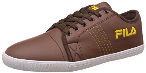 Fila Men's Twik Brown and Yellow Sneakers - 8 UK/India (42 EU)