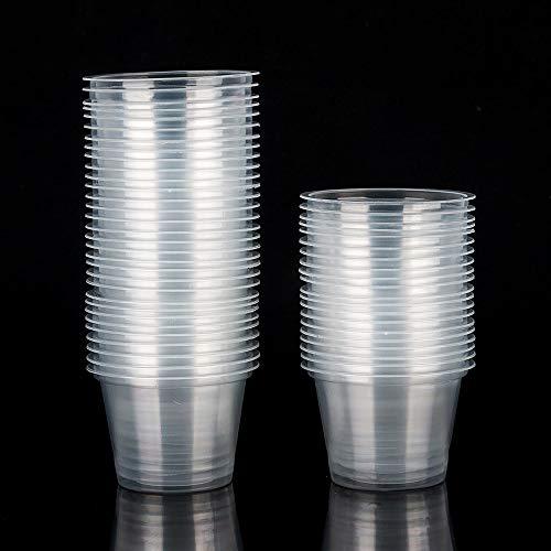 PLECUPE 50Pcs Taza plástico Prueba Viento Pequeños
