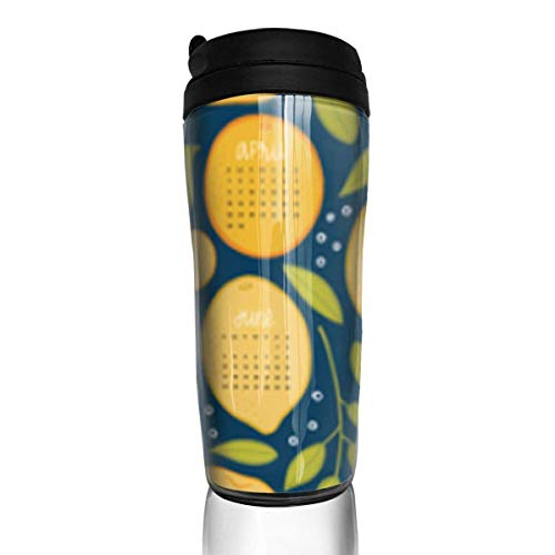 Travel Coffee Mug Citrus Tea 12 Oz Spill Proof Flip Lid Water Bottle Environmental Protection Material ABS