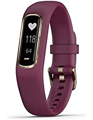 Garmin vívosmart 4, Activity and Fitness Tracker w/Pulse Ox and Heart Rate Monitor, Gold w/Berry Band