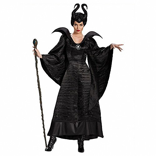 Frauen Sexy 3 PCS Maleficent Hexe Königin Halloween Kostüm Erwachsene Party Fancy Cosplay Kostüm Kleid