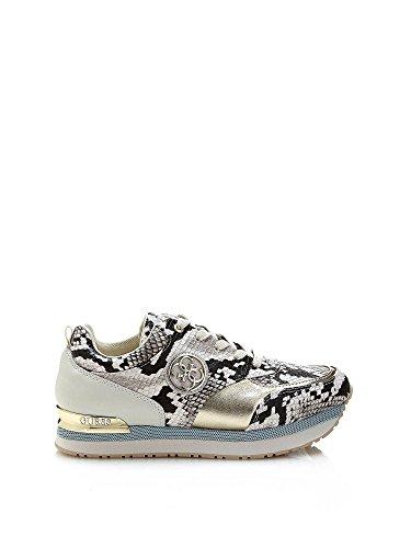 Guess Sneaker Donna Rimma Rialzo Cm 5 Lea Grey Grigio