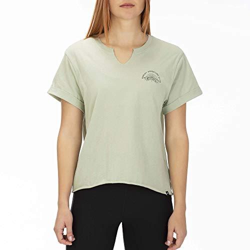 Camo Crop (Hurley Damen W Adventure Club Crop Crew T-Shirts, Jade Horizon/Camo, XS)