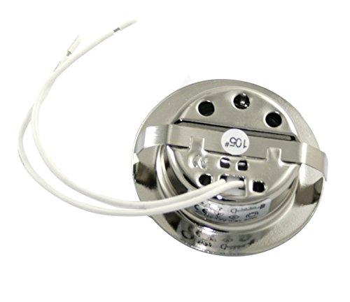 Set faretti da incasso per mobili, colore: acciaio INOX spazzolato – 12 V G4 20 Watt lampadina ...